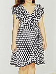 Summer polka retro dress