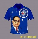 Blue Tshirt with Ambedkar Image