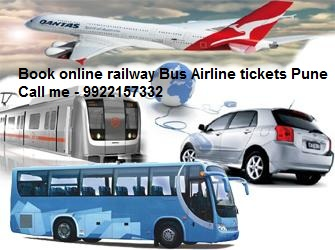 Book online railway Bus Airline tickets Pune